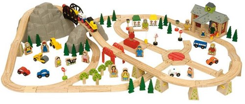 Bigjigs Mountain Railway Set