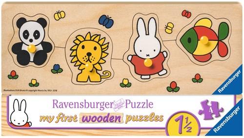 Ravensbuger Puzzel Houten puzzels NIJ: nijntje en haar dierenvriendjes 4 stukjes