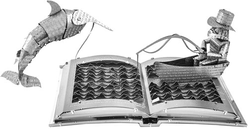 Metal Earth constructie speelgoed The Old Man & The Sea Book Sculpture