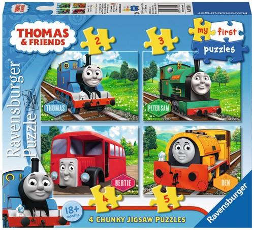 Ravensburger Thomas & Friends My first puzzels - 2+3+4+5 stukjes - kinderpuzzel