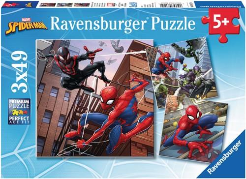 Ravensbuger Puzzel 3x49 stukjes SPI: Spider-man in actie