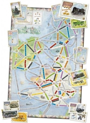Asmodee Ticket to Ride Map Collection #5 United Kingdom