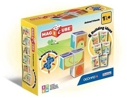 Geomag MagiCube Animal Friends - 4 pcs