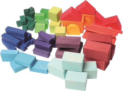 Grimm's - 60 Colored Geo-Blocks