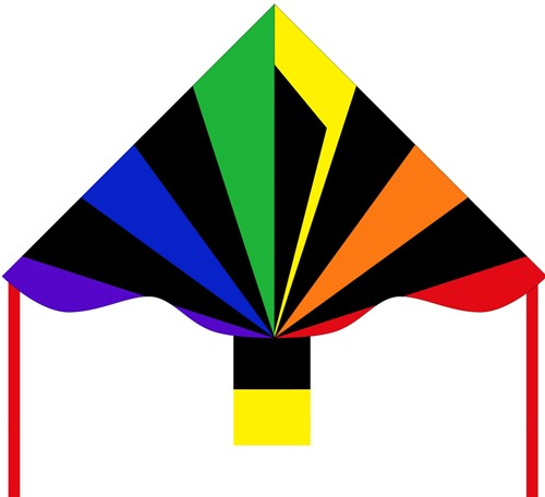 HQ Ecoline:Simple Flyer Black Rainbow