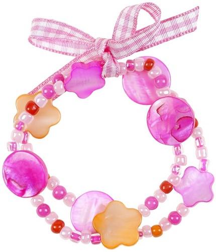 Souza Armband Ciske, roze-oranje, volledig elastisch (6 stuks)