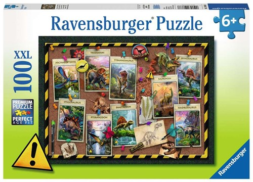 Ravensbuger Puzzel 100 XXL Dino verzameling 100p