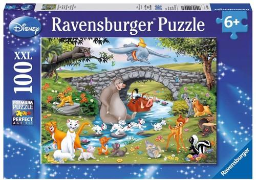 Ravensbuger Puzzel 100 XXL WD: Familie Animal Friends