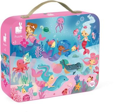 Hat Boxed 24 Pcs Puzzle Mermaids