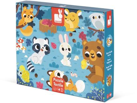 """Tactile Puzzle """"Forest Animals"""" - 20 Pcs"""