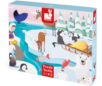 """Tactile Puzzle """"Life On The Ice"""" - 20 Pcs"""