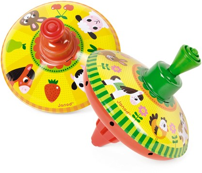 Farm Metal Spinning Top (2 Assorted Models)