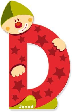 Clown Letter D