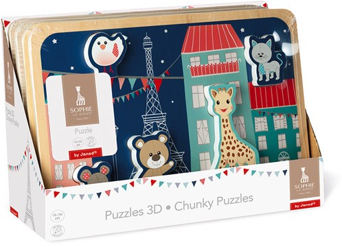 Janod - Sophie de Giraffe - Chunky Puzzel
