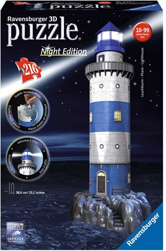 Ravensburger Lighthouse at Night 3D puzzle