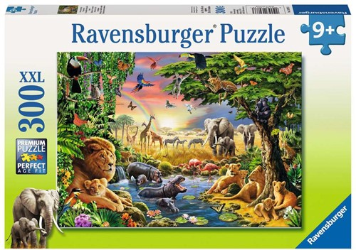 Ravensburger Evening at the Waterhole Jigsaw puzzle 300 pc(s)