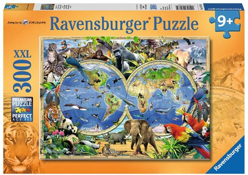 Ravensbuger Puzzel 300 stukjes  World of wildlife