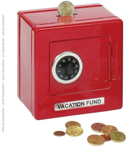 Goki 14019 money box Red Metal