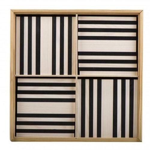 Kapla  houten bouwplankjes 100 Plankjes zwart/wit