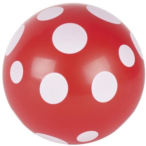 Goki Ball red with white dots