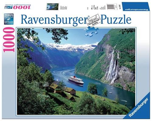 Ravensbuger Puzzel 1000 stukjes  Noors fjord