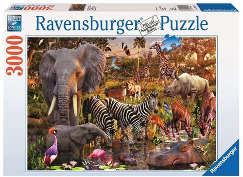 Ravensbuger Puzzel 3.000 stukjes Afrikaanse dierenwereld