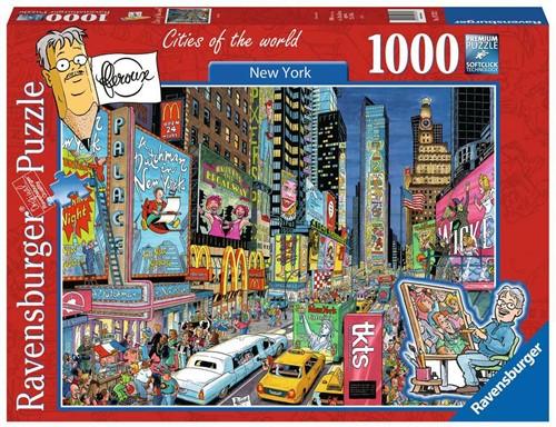 Ravensbuger Puzzel FLeroux comic style FLE: New York