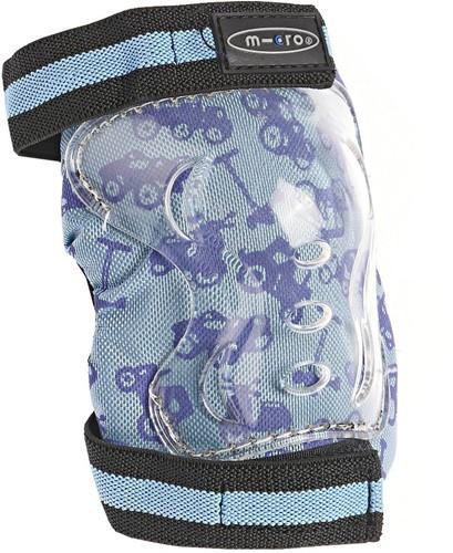 Micro knie en elleboog bescherming Blauw Maat XS
