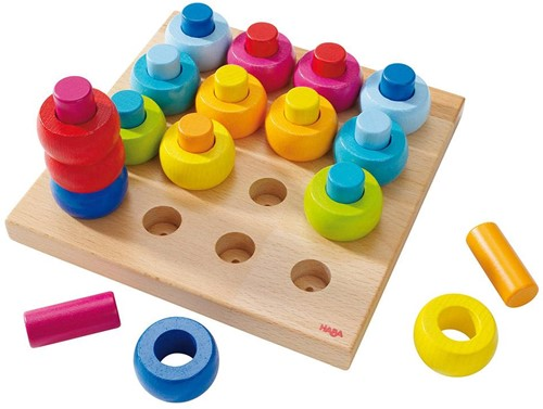 HABA Pegging Game Rainbow Whirls