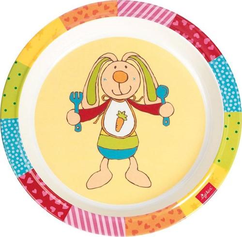sigikid Melamine plate, Rainbow Rabbit