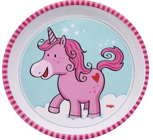 HABA Plate Unicorn Glitterluck