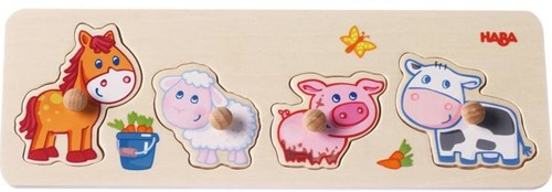 HABA Clutching Puzzle Baby farm animals