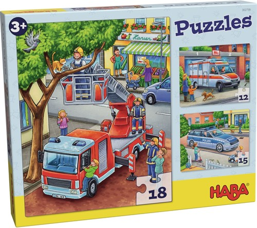HABA Puzzles Police, fire department & friends