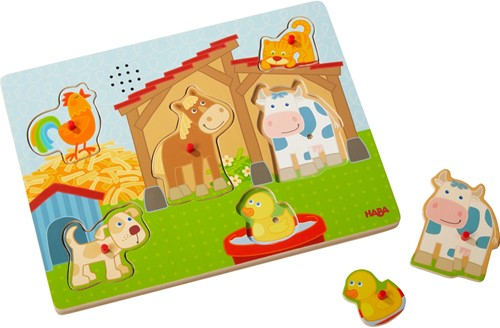 HABA Sounds - Clutching Puzzle On the farm