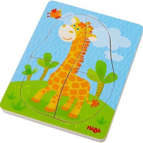HABA Wooden puzzle Wild animals