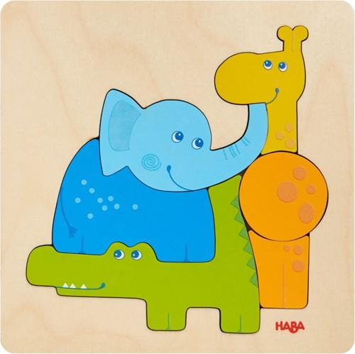 HABA Wooden puzzle Zoo Animals