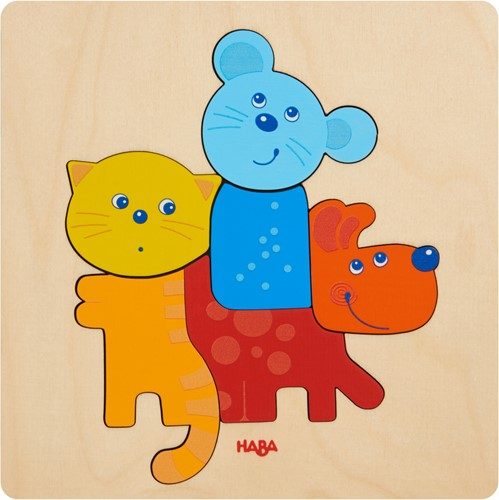 HABA Wooden puzzle Pets