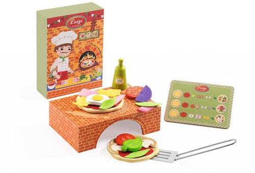 DJECO DJ06538 - Luigi Pizza Wooden Box