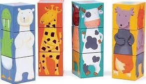 DJECO 12 colours animals blocks - 24.5 x 18.5 x 6,3 cm