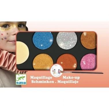 Djeco Palettes et accessoires Palette 6 couleurs - Effet métal