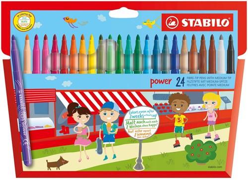 STABILO Power felt pen Medium Multicolor 24 pc(s)