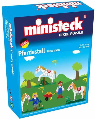Ministeck Paardenstal 4-in-1 - 500 stukjes