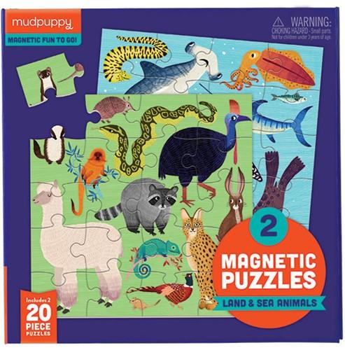 Mudpuppy Magnetic Fun/Land & Sea Animals