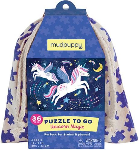 Mudpuppy Puzzle To Go/Unicorn Magic