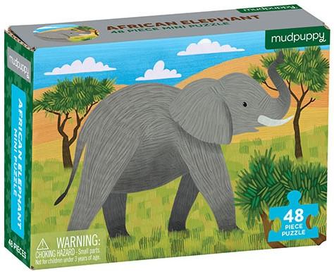 Mudpuppy Mini Puzzle/African Elephant