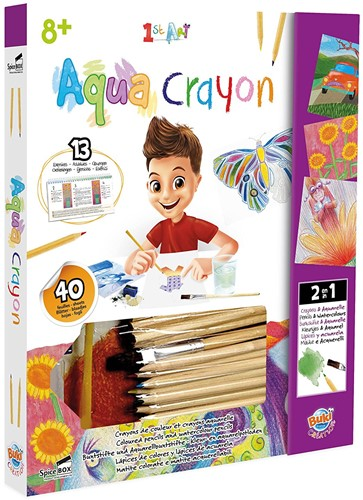 Planet Happy teken en verfspullen 1st art Aqua Crayon