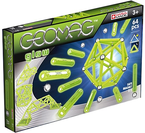 Geomag Color Glow 64 pcs neodymium magnet toy 64 pc(s) Green