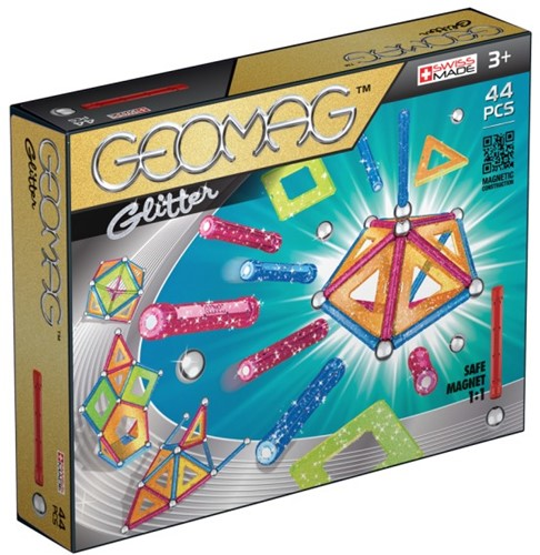 Geomag Panels Glitter 44 pcs neodymium magnet toy Multicolor