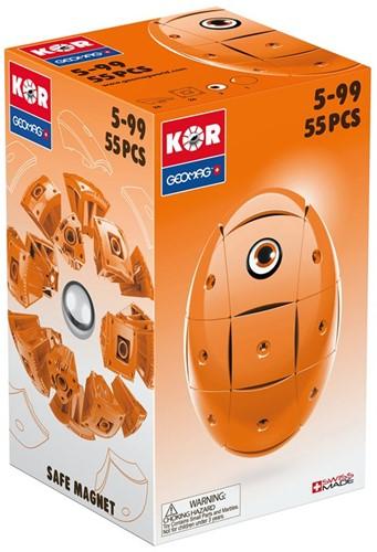 Geomag KOR 2.0 Pantone 151 Orange 55 pcs neodymium magnet toy