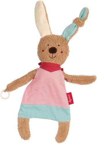 sigikid Comforter with dummy holder rabbit pink
